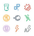 mode icons vector image vector image