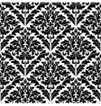 monochrome damask seamless vector image