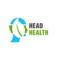 natural brain health logo design vector image vector image