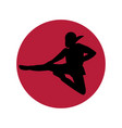 ninja logo minimalism vector image