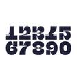 numeral font font number vector image