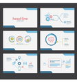presentation template flat design set vector image vector image