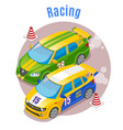 racing sports isometric concept vector image vector image