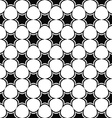 Repeat monochrome star pattern vector image vector image