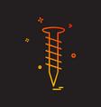 screw nut tools icon design vector image vector image