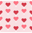 seamless pattern with sweet hearts vector image vector image