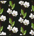 seamless spring pattern with magnolias vector image vector image