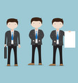 Set of businessman character cartoon