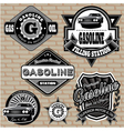 set of labels on the topic gasoline vector image