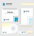 setting document logo calendar template cd cover vector image vector image
