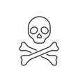 skull and bones related thin line icon vector image