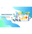 smm strategy website landing page design vector image