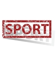 SPORT outlined stamp vector image