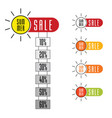 summer sale sign set with sun design vector image vector image