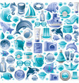 summer sea travel seamless pattern repeat vector image vector image