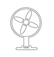 table fan icon design vector image