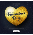 template of a black square banner with a heart vector image vector image