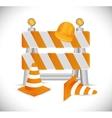 under construction barrier design vector image vector image