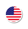 united states of america badge vector image vector image