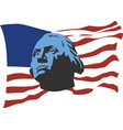 usa flag with portrait george washington vector image vector image