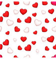 valentine day isolated heart 3d seamless pattern vector image vector image