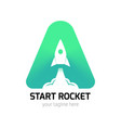 vertical start rocket logo vector image vector image