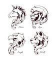 Vintage Animals Heads vector image vector image