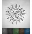 virus icon vector image vector image