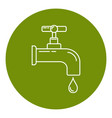 water tap icon in thin line style vector image