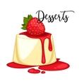 Delicious sweet dessert cartoon vector image