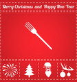 fork icon vector image