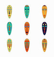 set of colored national ethnick african masks vector image
