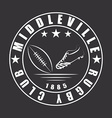 American football or rugby ball and boot emblem vector image