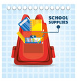 accesories school tools to study education vector image vector image