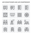 air conditioner icon vector image vector image