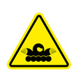 attention mole warning shrew yellow prohibitory vector image vector image