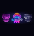 back to 80s neon sign 80 s retro style vector image vector image