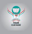 Badminton Club logo vector image vector image