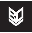 bd logo monogram with emblem shield style design vector image vector image