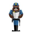 bear policeman wild animal police form cap