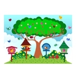 Bird at the park in sunny weather vector image vector image