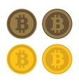 Bitcoin Icon Logo Set vector image vector image