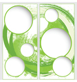blank round web template on green grunge vector image vector image