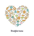 breakfast background vector image
