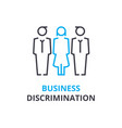 business discrimination concept outline icon vector image