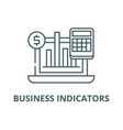 business indicators line icon business vector image