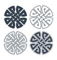 celtic knot ethnic ornament geometric vector image