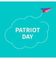 cloud plane patriot vector image vector image
