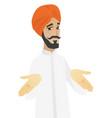 confused hindu businessman shrugging shoulders vector image vector image