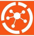 Connections diagram icon from Business Bicolor Set vector image